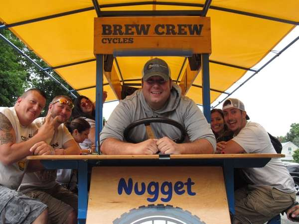 Brew Crew Cycles driver Ed McGill hangs out