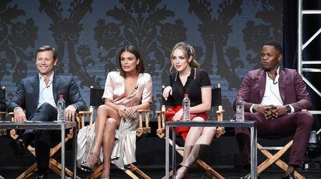 Grant Show, Nathalie Kelley, Elizabeth Gillies and Sam