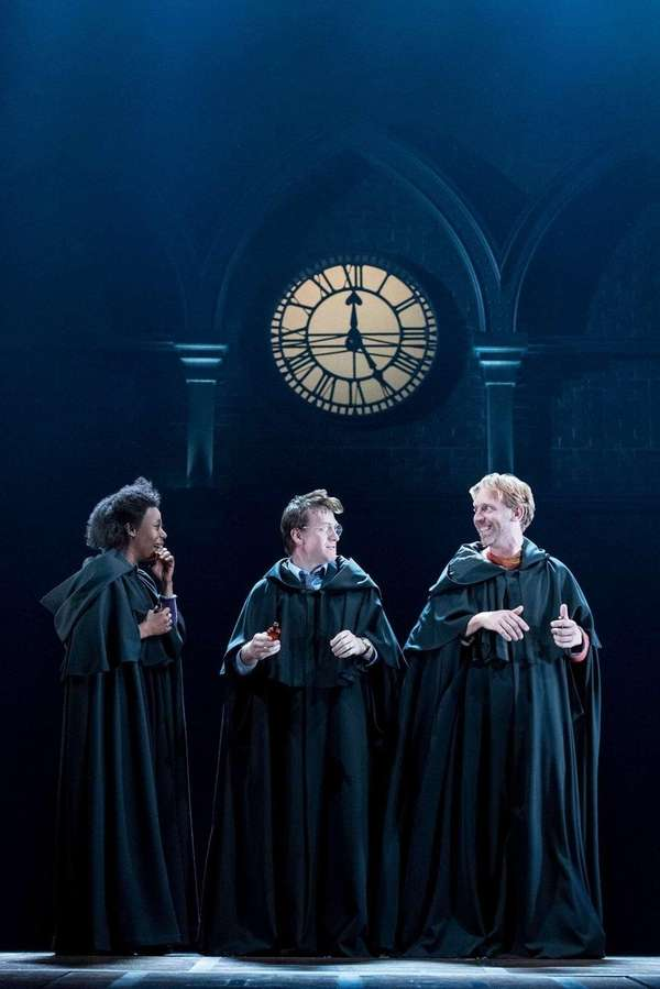 Noma Dumezweni, Jamie Parker and Paul Thornley in