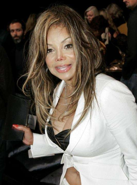 La Toya Jackson arrives for the Collection Bebe