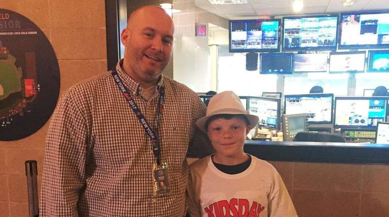 Kidsday reporter Michael Fiocco with his cousin, Mike