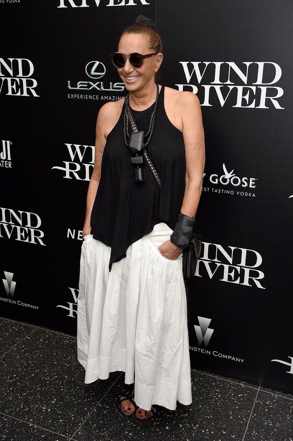 Donna Karan attends a screening of the film
