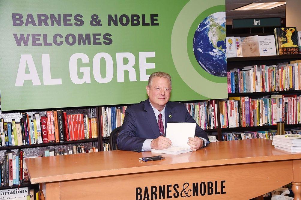Al Gore at a book signing at Barnes