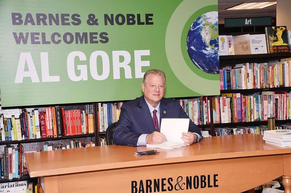 Al Gore at a book signing at Barnes
