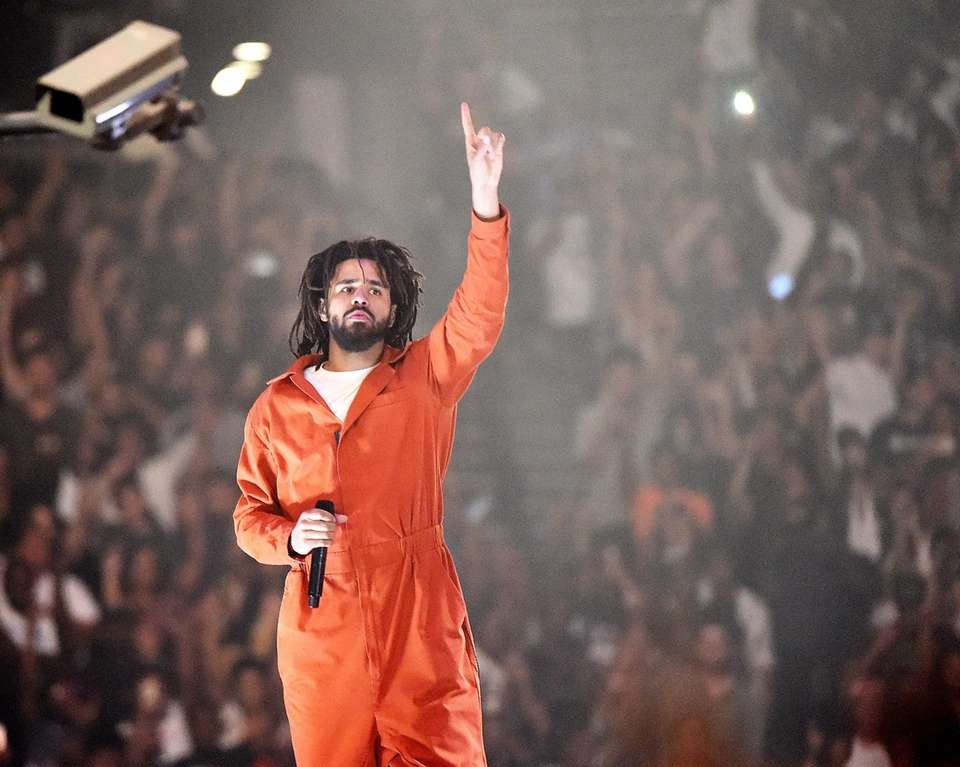 J. Cole performs at Barclays Center in Brooklyn