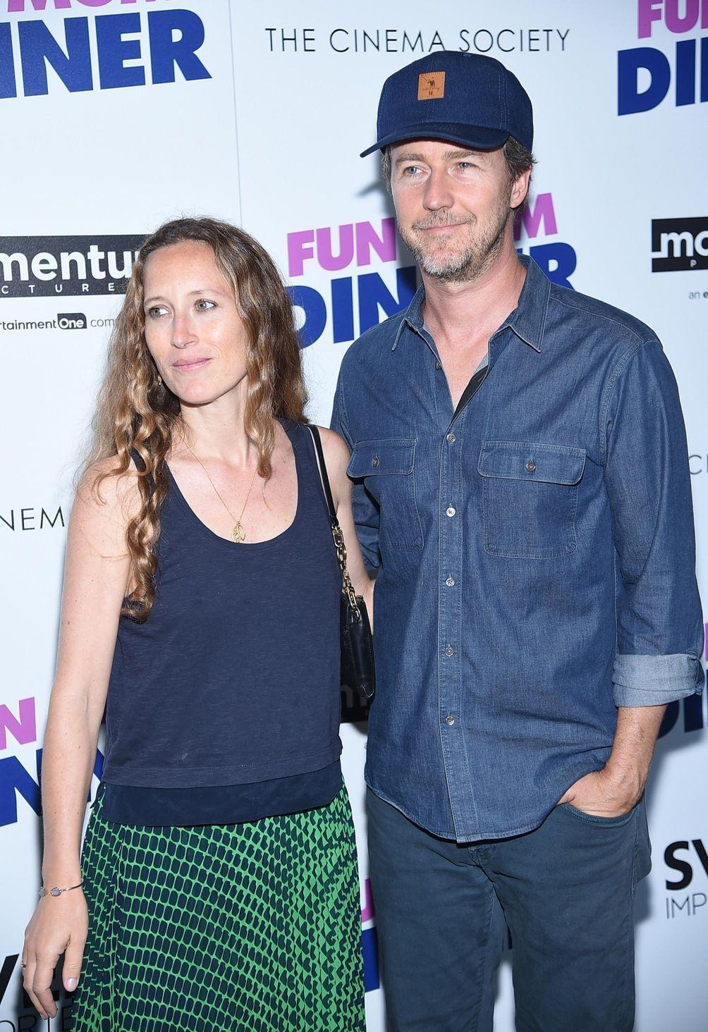 Shauna Robertson and Edward Norton attend a screening