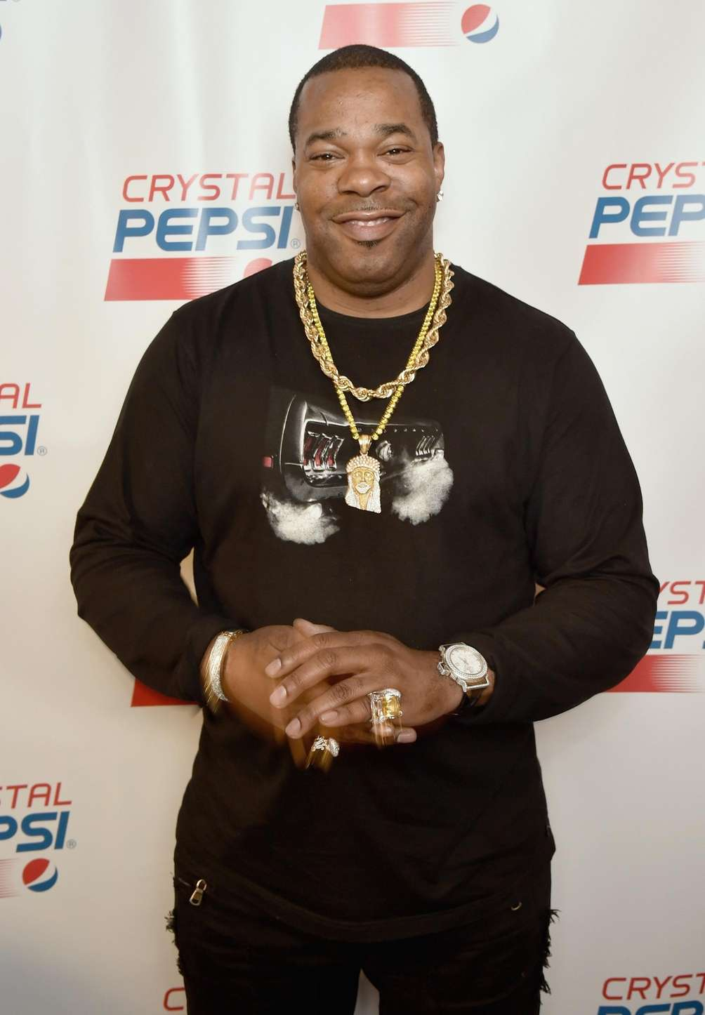 Busta Rhymes attends the Crystal Pepsi Throwback Tour