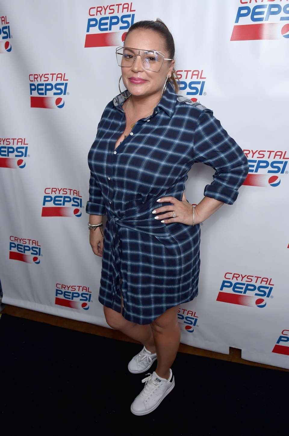 Angie Martinez attends the Crystal Pepsi Throwback Tour