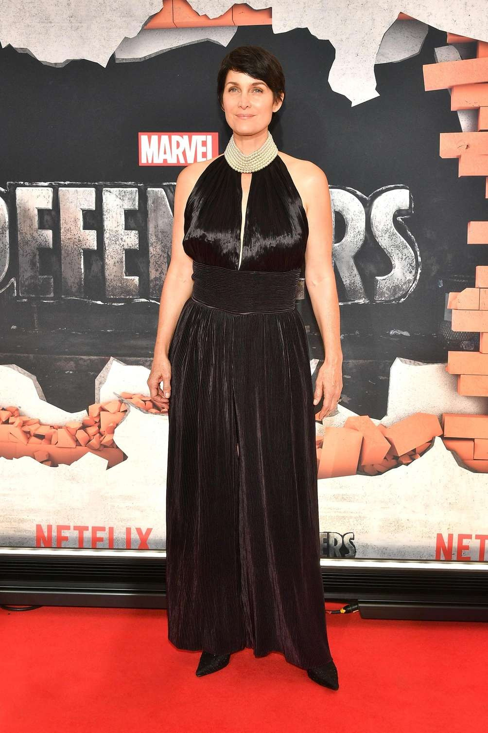 Carrie-Anne Moss attends the New York premiere of