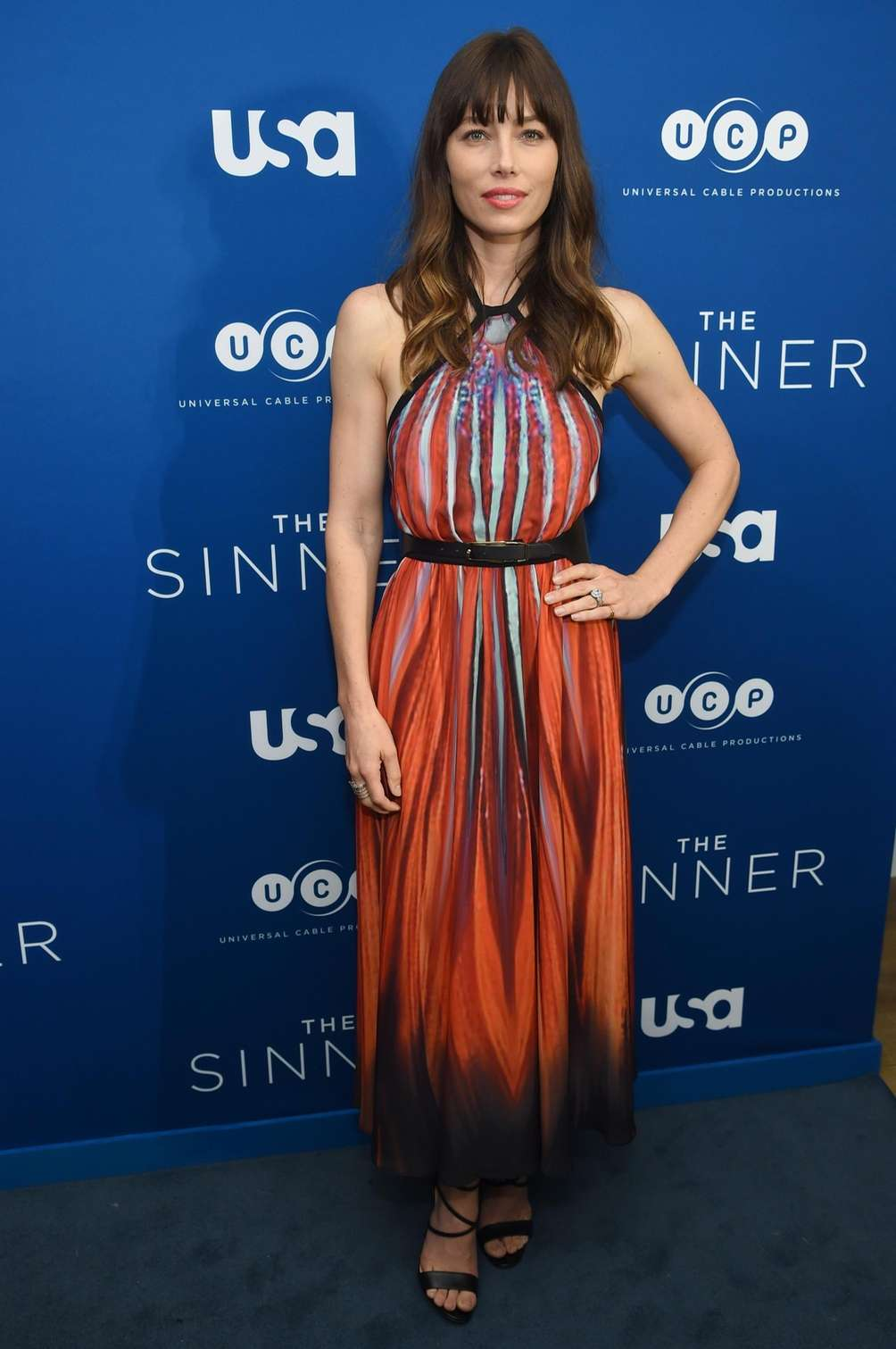 Jessica Biel attends a screening of USA Network's