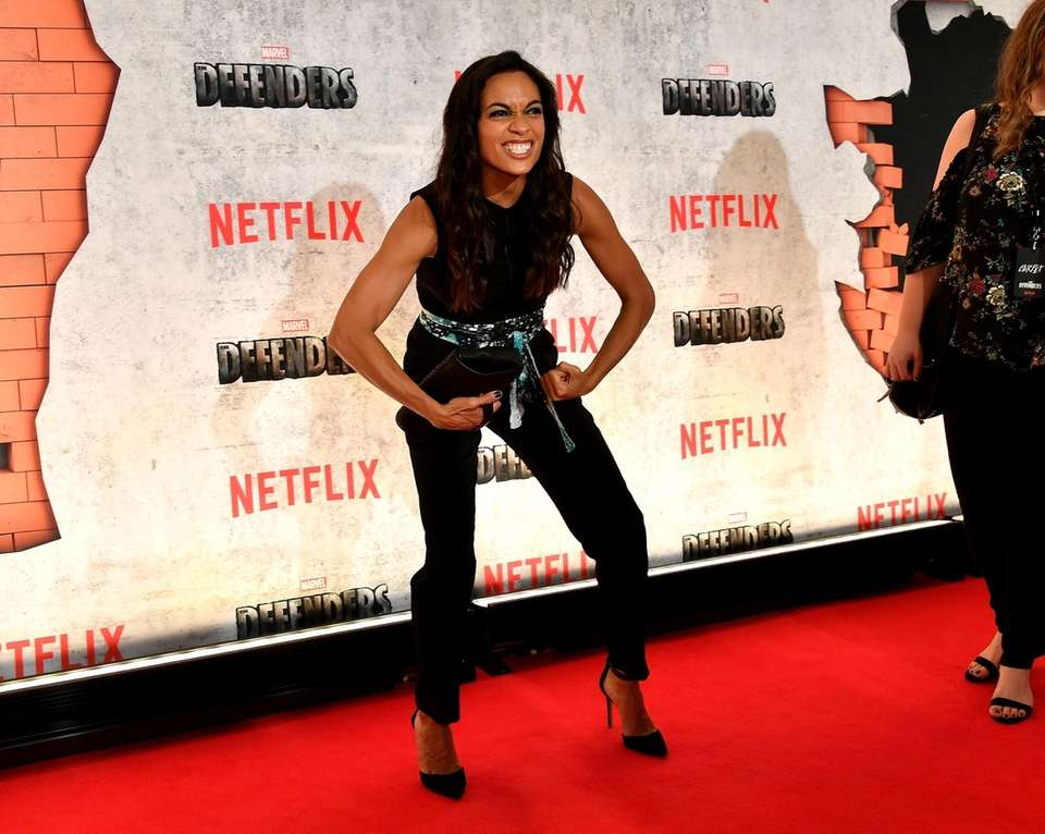 Rosario Dawson attends the New York premiere of