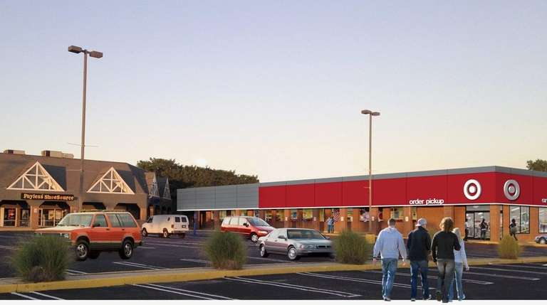 A rendering of the small-format store Target will