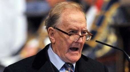 Veteran British stage and screen actor Robert Hardy,