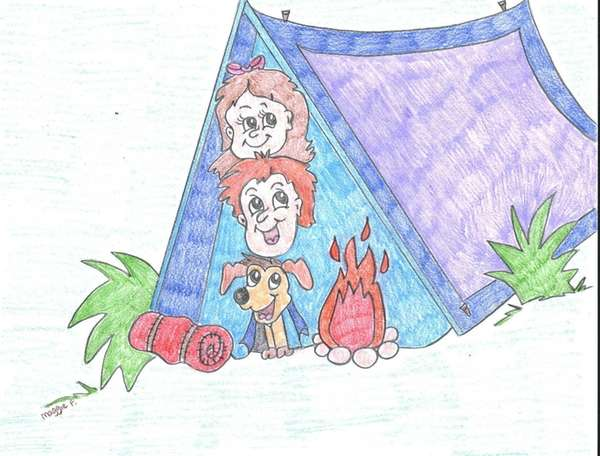 Camp in your own backyard with just a