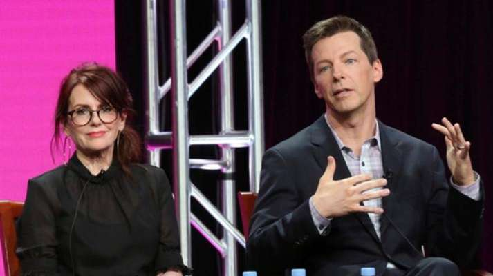 Megan Mullally and Sean Hayes take part in