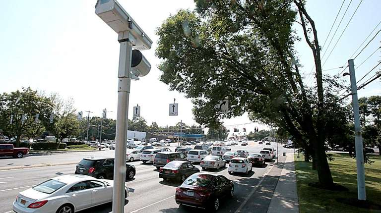 A red-light camera at Townline Road and Jericho