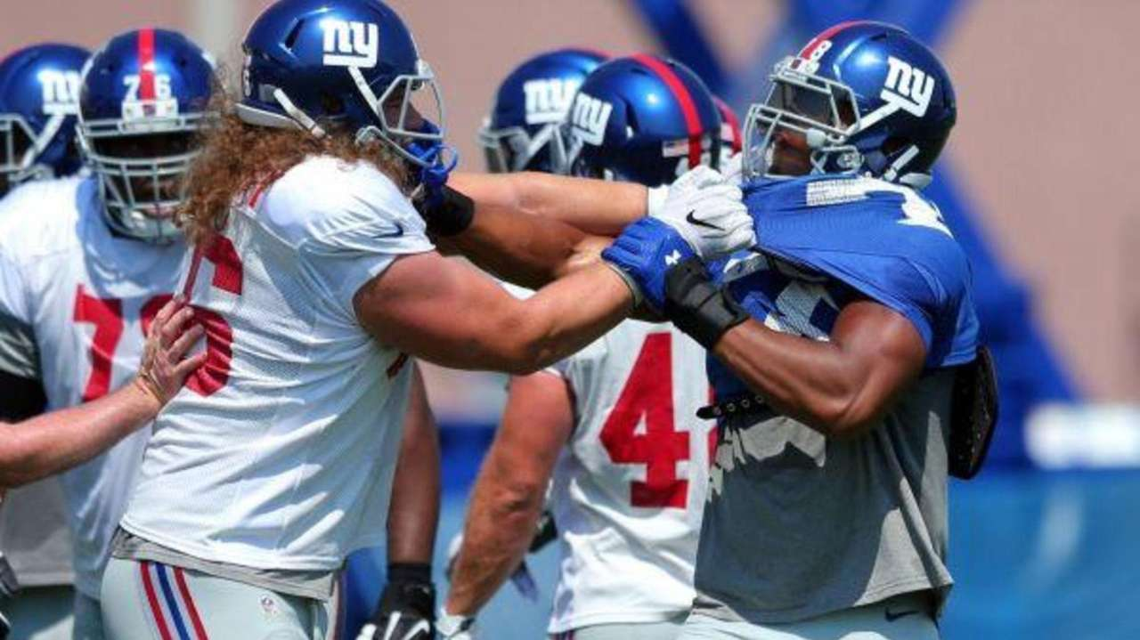 The Giants downplayed scuffles between the offensive and defensive