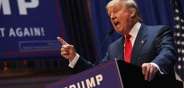Donald Trump announces his run for presidency at