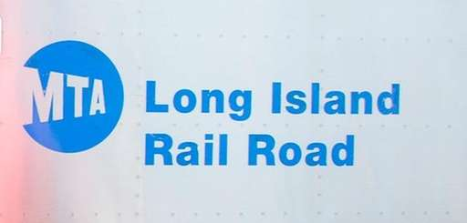 The MTA and LIRR logos are seen on