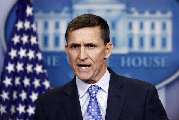 Former National Security Adviser Michael Flynn speaks during