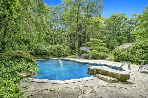 An in-ground pool.