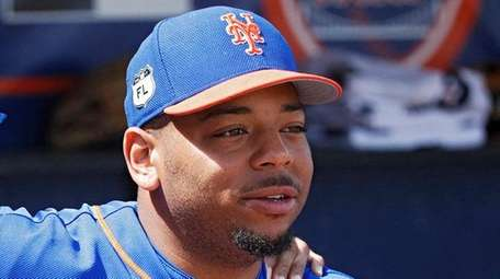 Dominic Smith #74 of the New York Mets
