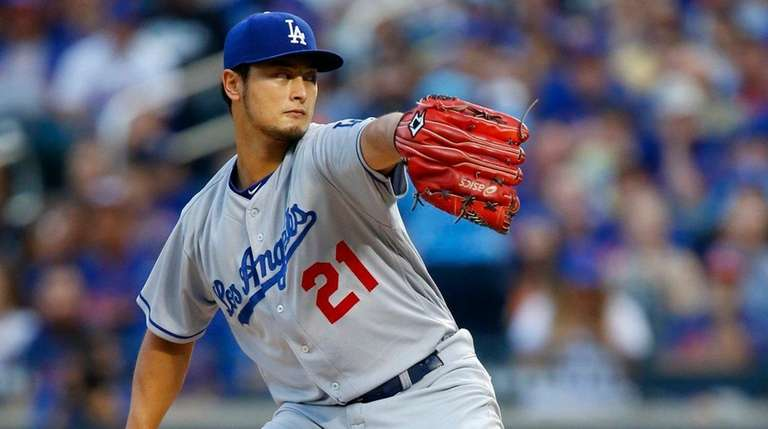 Yu Darvish delivers on Friday, Aug. 4, 2017,