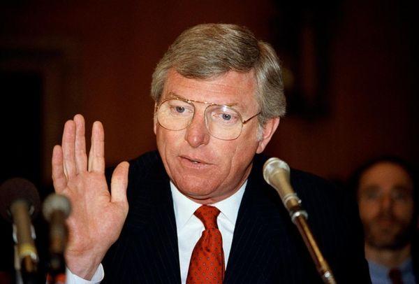 Texas Gov. Mark White in Washington in 1985.