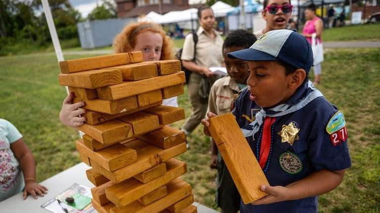 Cub Scout Jacinto, 10, from Troop 277 in