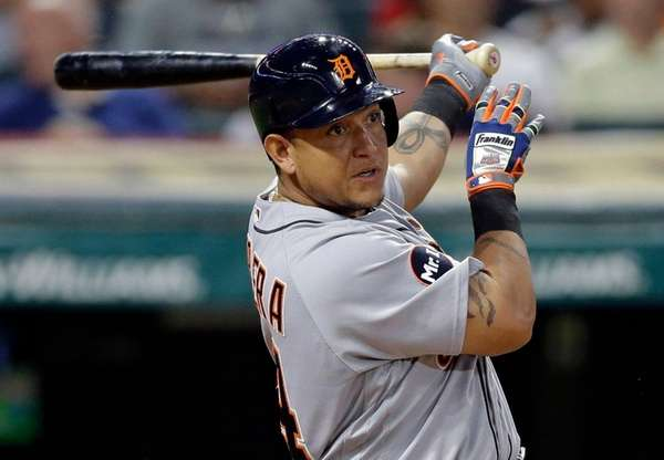 Detroit's Miguel Cabrera, here getting an RBI single