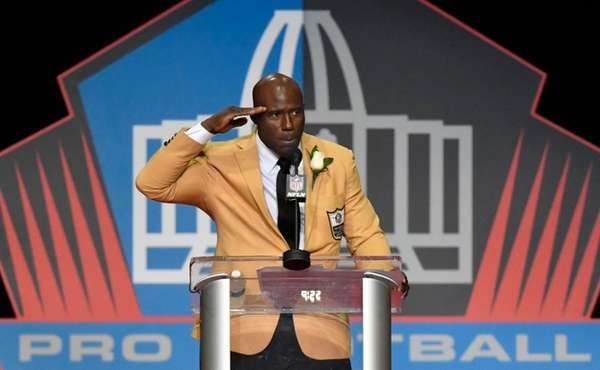 Terrell Davis gives his signature end zone