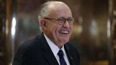 Former New York Mayor Rudy Giuliani arrives at