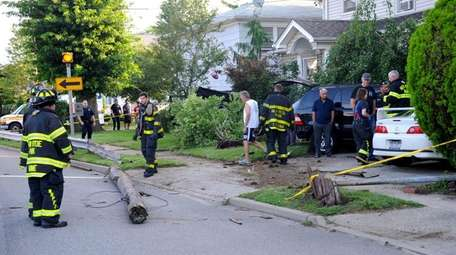 A woman was injured after losing control of