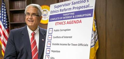 Hempstead Town Supervisor Anthony Santino discusses his ethics