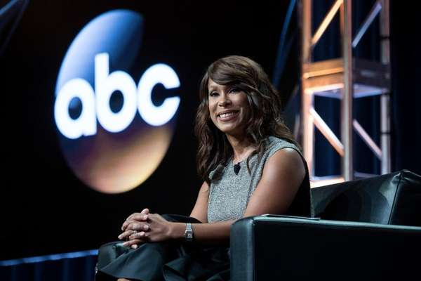 ABC executive Channing Dungey addresses the press at