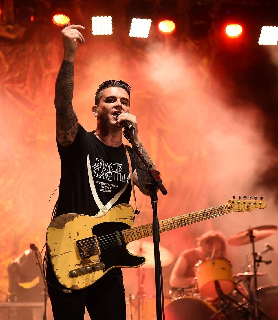 Chris Carrabba of Dashboard Confessional performs at SummerStage