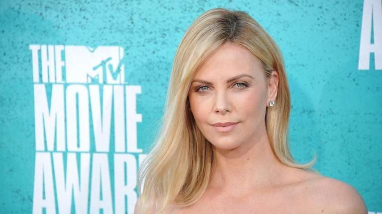 Actress Charlize Theron arrives at the MTV Movie