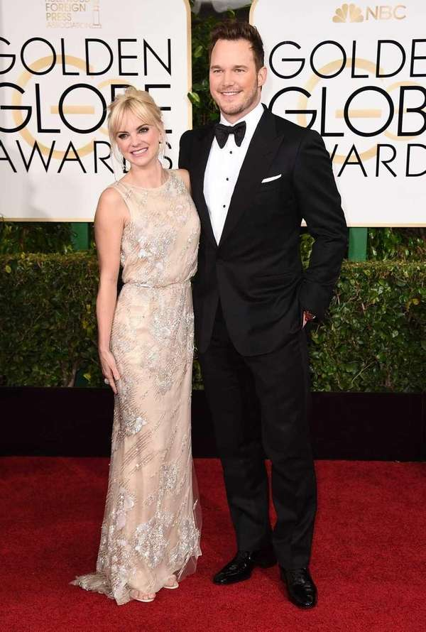 Anna Faris and Chris Pratt arrive at the