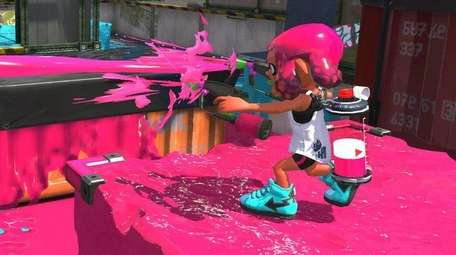 Splatoon 2 is a third-person shooter that uses