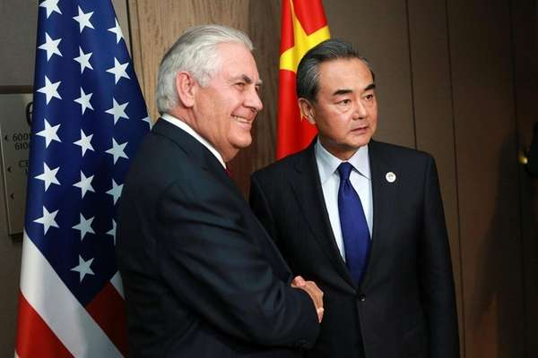 Tillerson says NKorea must halt launches to talk