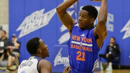 Knicks second-round draft pick Damyean Dotson during an