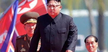 North Korean leader Kim Jong Un, center, is