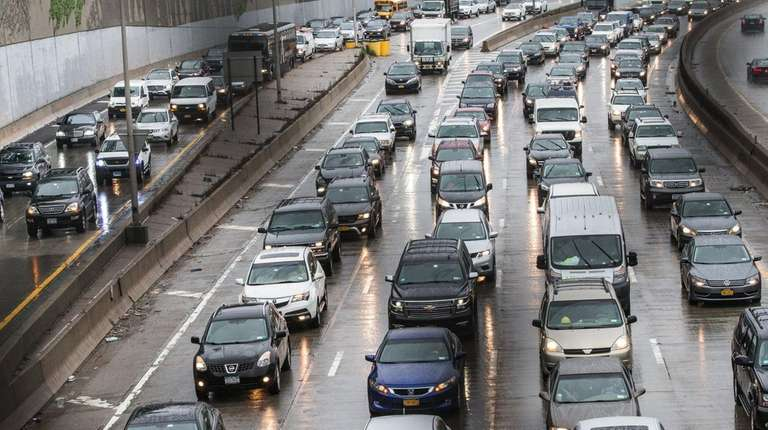 Rush-hour traffic outside New York City on May