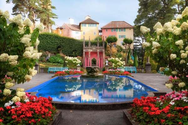 The miniature Italianate village of Portmeirion is a