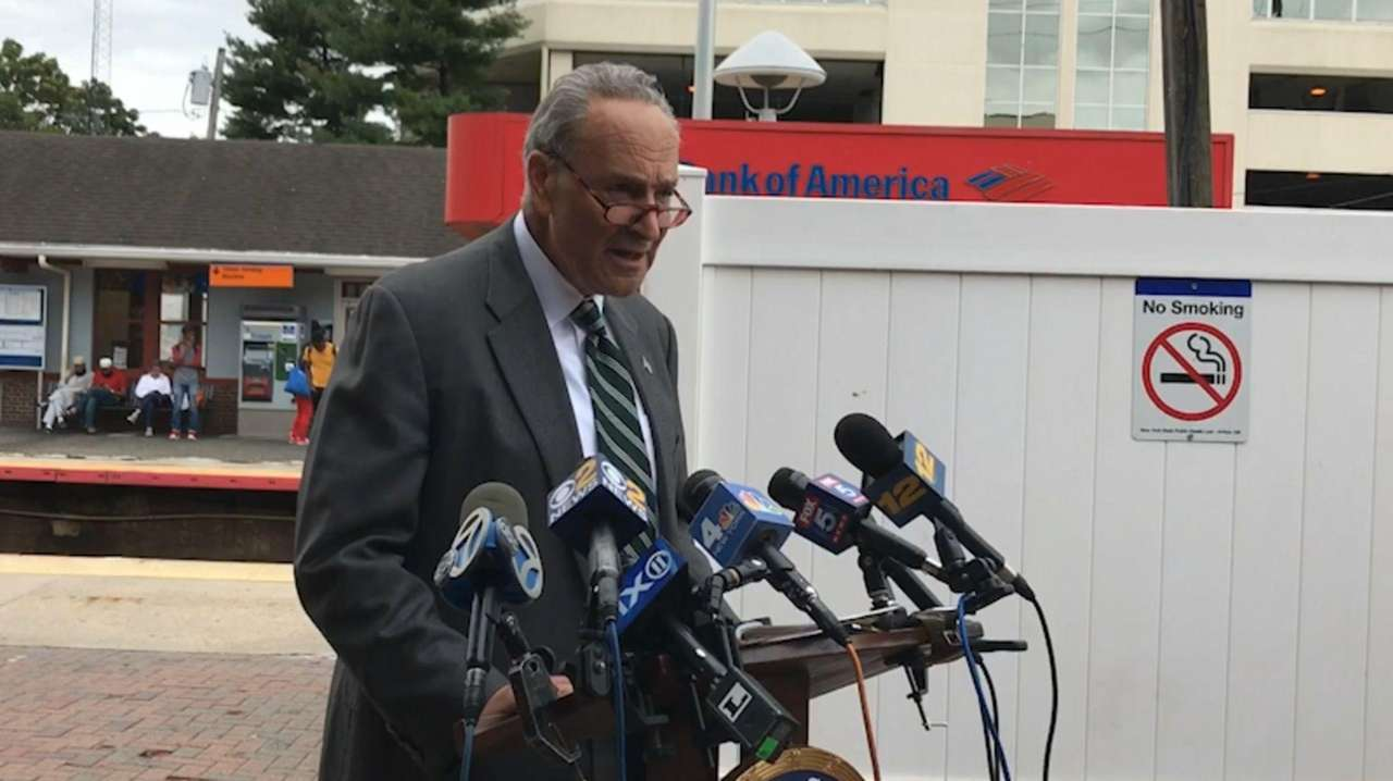 Sen. ChuckSchumer, speaking at the Long Island Rail