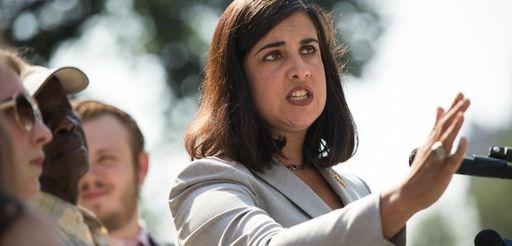 Nicole Malliotakis speaks during a news conference on
