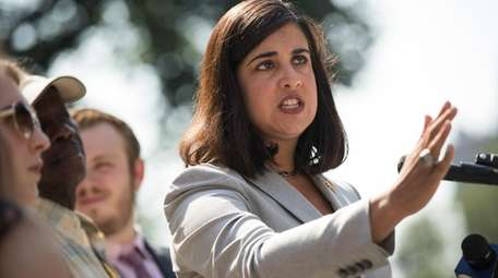 Nicole Malliotakis speaks during a news conference on