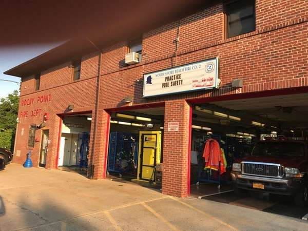 The North Shore Beach firehouse in Rocky Point,