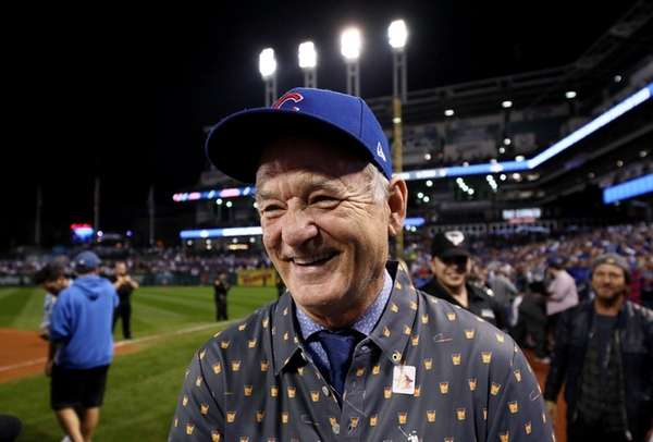 Actor and Chicago Cub fan Bill Murray after