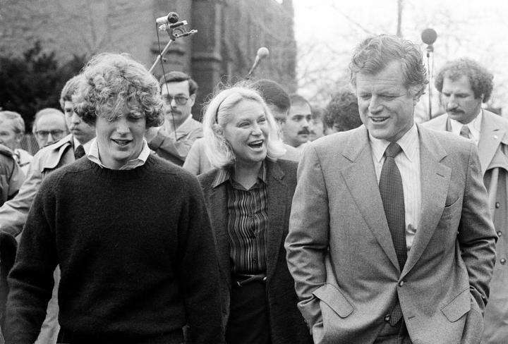 U.S. Sen. Edward M. Kennedy (D-Mass.) walks